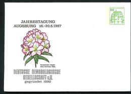 Bund PU113 D2/005 Privat-Umschlag RHODODENDRON Augsburg 1987 - Pflanzen Und Botanik