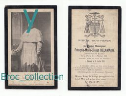 Paris, Cambrai, Cancale, Mémento De Mgr François-Marie-Joseph Delamaire, Archevêque De Cambrai, 21/07/1913 - Images Religieuses