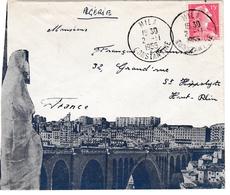 Mila Constantine 1955 - Lettre Cover Brief - Algerien (1924-1962)