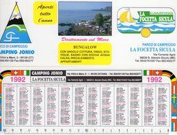 Camping Jonio (CT) - La Focetta  Sicula (ME) - - Calendarios