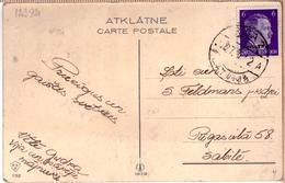 "Latvia Lettland PC German Time Cancel RIGA 7 ""A"" 27.3.1942. - Lettonie"