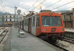 """D7506 """"FERROVIA CIRCUMVESUVIANA-LINEA NAPOLI-BAIANO - STAZIONE DI BAIANO - APRILE 1985""""  CART NON SPED - Stazioni Con Treni"""