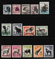 SOUTH AFRICA UNION 1954 Used Stamps Definitive Serie Wildlife Wmk Springbok 150-163 - South Africa (...-1961)