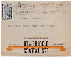 Oran 1948 - Flamme Engagez-vous Dans L'armée Coloniale - Lettre Cover Brief - Tabacs D'outremer - Algerien (1924-1962)