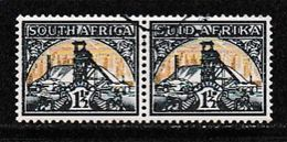 SOUTH AFRICA UNION 1941 Used Pair Stamps Definitives Issue Horizontal Nrs. 137-138 - South Africa (...-1961)