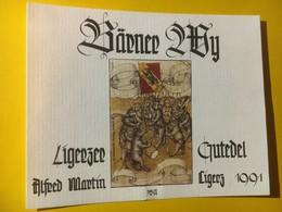 8069 - Bärner Wy 1991 Ligerzer Gutedel  Suisse Ours Et Drapeau Bernois - Sonstige