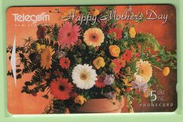 New Zealand - Gift Cards - 1995 Happy Mother's Day $5 - NZ-G-15 - VFU - New Zealand