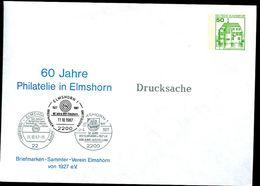 Bund PU113 D2/011 Privat-Umschlag STEMPEL ELMSHORN 1987 - Post