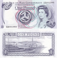 Isle Of Man - 1 Pound 2009 UNC Serie AA P. 40c Lemberg-Zp - Billets