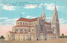 Sainte-Anne-de-Beaupré Québec Canada - Religion Pilgrimage -  New Basilica - Nouvelle Basilique  - Unused - 2 Scans - Ste. Anne De Beaupré