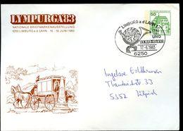 Bund PU113 D2/021 Privat-Umschlag POSTKUTSCHE LYMPURGA Limburg Sost.1983 NGK 4,00 € - Post