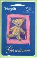 New Zealand - Gift Cards - 1994 Get Well Soon $5 - NZ-G-4 - VFU - New Zealand