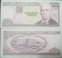 L) 2015 CUBA, BANKNOTES, CALIXTO GARCIA INIGUEZ, 50 PESOS, ARCHITECTURE, CENTER OF GENETIC ENGINEERING AND BIOTECHNOLOGY - Cuba