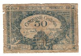 Monaco 50 Centimes 1920 - Mónaco