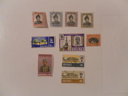 BRUNEI LOT DE 10 TIMBRES OBLITERES - Brunei (1984-...)