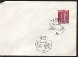 J) 1966 GERMANY, EUROPA CEPT, BOAT, FDC - Germany