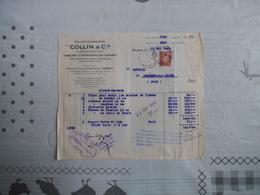 PARIS COLLIN & Cie MAISON CHARRIERE INSTRUMENTS DE CHIRURGIE 6 RUE DE L'ECOLE DE MEDECINE FACTURE DU 17 MAI 1943 - France