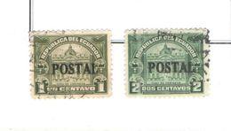 Ecuador PO 1927 Postal Tax Ovpr. Scott.266+267+See Scan On Scott. Page - Ecuador