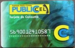 Ecuador - ECU-PUB-02, PubliCel Tarjeta De Consumo (embossed, Plastic), 5,000 S/., Used - Ecuador
