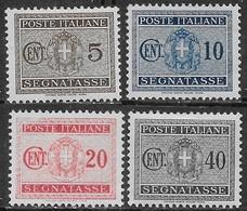Italia Italy 1934 Regno Segnatasse Stemma Con Fasci 4val Sa N.S34-S36,S39 Nuovi MH * - 1900-44 Vittorio Emanuele III