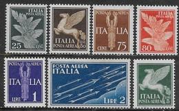 Italia Italy 1930 Regno Soggetti Allegorici Aerea 7val Sa N.A10-A16 Nuovi MH * - 1900-44 Vittorio Emanuele III