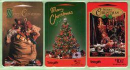 New Zealand - Gift Cards - 1994 Merry Christmas Set (3) - NZ-G-7/9 - Mint - New Zealand