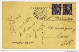 """FLIER  -  """" PARIS  /  GARE MONTPARNASSE / 19 II 1940 """" + """" FUMEZ / LES CIGARETTES / CELTIQUES """" - Poststempel (Briefe)"""
