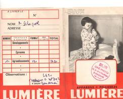 Pochette Pour Rangement Photos Et Pellicules, LUMIERE, 2 Volets, SAINT-NAZAIRE, Cachet  (44) - Photography
