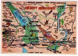 Desert Neighbors Map. VG. - Carte Geografiche