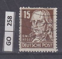 GERMANIA  OCCUP. SOVIETICA 1948Tedeschi Famosi, 15 Pf, Usato - Zone Soviétique