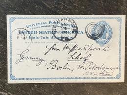 K5 USA Etats-Unis Stationery Entier Postal Ganzsache Psc From Neshannock To Berlin - ...-1900