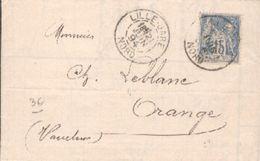 LAC De Lille Henri Devilder & Cie Société En Commandite Par Actions - Type Sage 21 Juin 1894 - Marcophilie (Lettres)