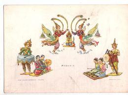U2676 Cartolina Con Illustrazione Con Danze In Costume:danza Della Farfalla Della BIRMANIA - Illustration _ NN CIRC. - Danze