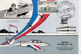 Limoges 1978 - Meeting National Armée De L'air - Avion Alpha-jet - Airplane Flugzeug - Cachets Militaires A Partir De 1900 (hors Guerres)