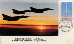 Strasbourg 1979 - Meeting Armée De L'air - Avion Mirage - Airplane Flugzeug - Poststempel (Briefe)