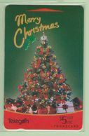 New Zealand - Gift Cards - 1994 Merry Christmas $5 Tree - NZ-G-8 - VFU - New Zealand