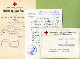 "NEUFCHATEAU : "" CROIX ROUGE - HÔPITAL AUXILIAIRE 202 ""  (1914) - Postmark Collection (Covers)"