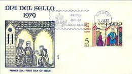 1979 , SOBRE DE PRIMER DIA , ED. 2526 , DIA DEL SELLO - FDC