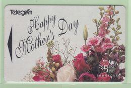 New Zealand - Gift Cards - 1994 Mother's Day - $5 Flowers - NZ-G-2 - VFU - New Zealand