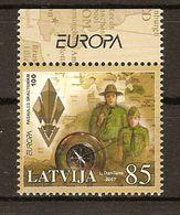 "LETONIA/ LATVIA/ LETTLAND  -EUROPA  2007-"" A CENTENARY SCOUT -EUROPA-CEPT""- SERIE De 2 V. - 2007"