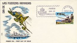 1980 , SOBRE DE PRIMER DIA , ED. 2572 , DIA DE LAS FUERZAS ARMADAS - FDC