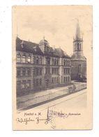 6000 FRANKFURT - HÖCHST, Evangelische  Kirche Und Gymnasium, 1904, Bahnpost - Hoechst