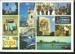 J) 2007 CUBA-CARIBE, FROG, CHE-GUEVARA PAINTING, CAR, LANDSCAPE, POSTCARD - Cuba