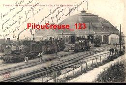 """10 - Aube - TROYES - """" La Rotonde Du Chemin De Fer De L'Est à La Chapelle Saint Luc - Animations - Locomotives """" - Troyes"""