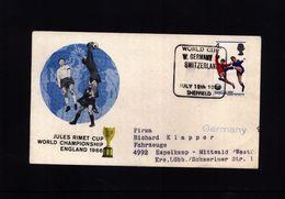 Great Britain 1966 World Cup Match W. Germany - Switzerland - Copa Mundial