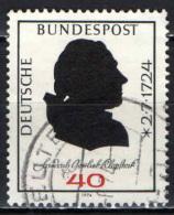 GERMANIA - 1974 - 250° ANNIVERSARIO DELLA NASCITA DI FRIEDRICH GOTTLIEB KLOPSTOCK (1724-1803) - POETA - USATO - [7] Repubblica Federale