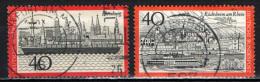 GERMANIA - 1973 - VEDUTA DI AMBURGO E DI RUDESHEIM - USATI - [7] Repubblica Federale