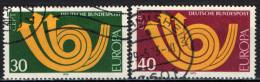 GERMANIA - 1973 - SERIE EUROPA UNITA - USATI - [7] Repubblica Federale