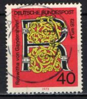 GERMANIA - 1973 - MILLENARIO DELL'OPERA LETTERARIA DI ROSWITHA VON GANDERSHEIM - USATO - [7] Repubblica Federale