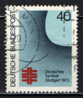 GERMANIA - 1973 - FESTIVAL TEDESCO DI GINNASTICA A STOCCARDA - USATO - [7] Repubblica Federale